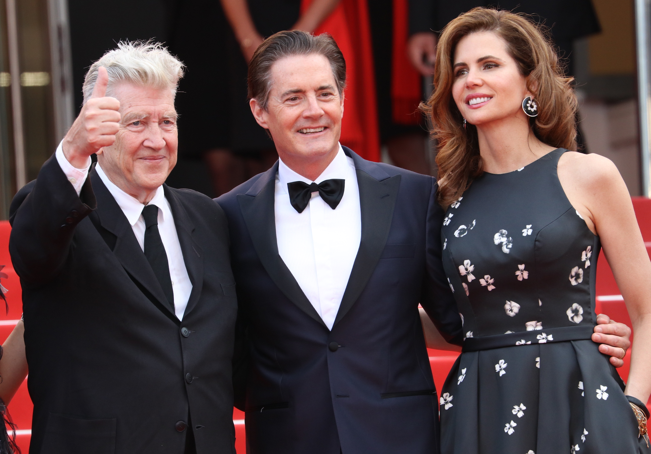 Cannes 2017: David Lynch e Kyle MacLachlan sorridenti sul red carpet di Twin Peaks