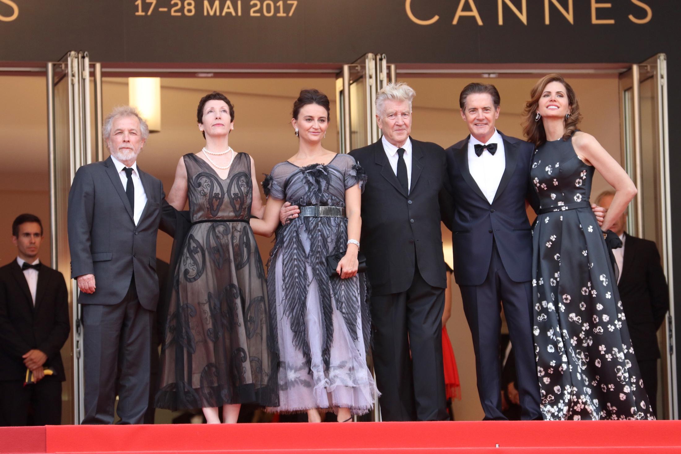 Cannes 2017: David Lynch e Kyle MacLachlan prima di entrare in sala sul red carpet di Twin Peaks