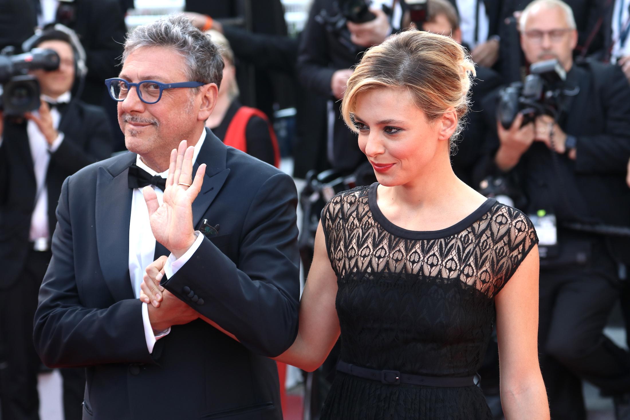 Cannes 2017:  uno scatto di Sergio Castellitto e Jasmine Trinca sul red carpet di Based on a True Story