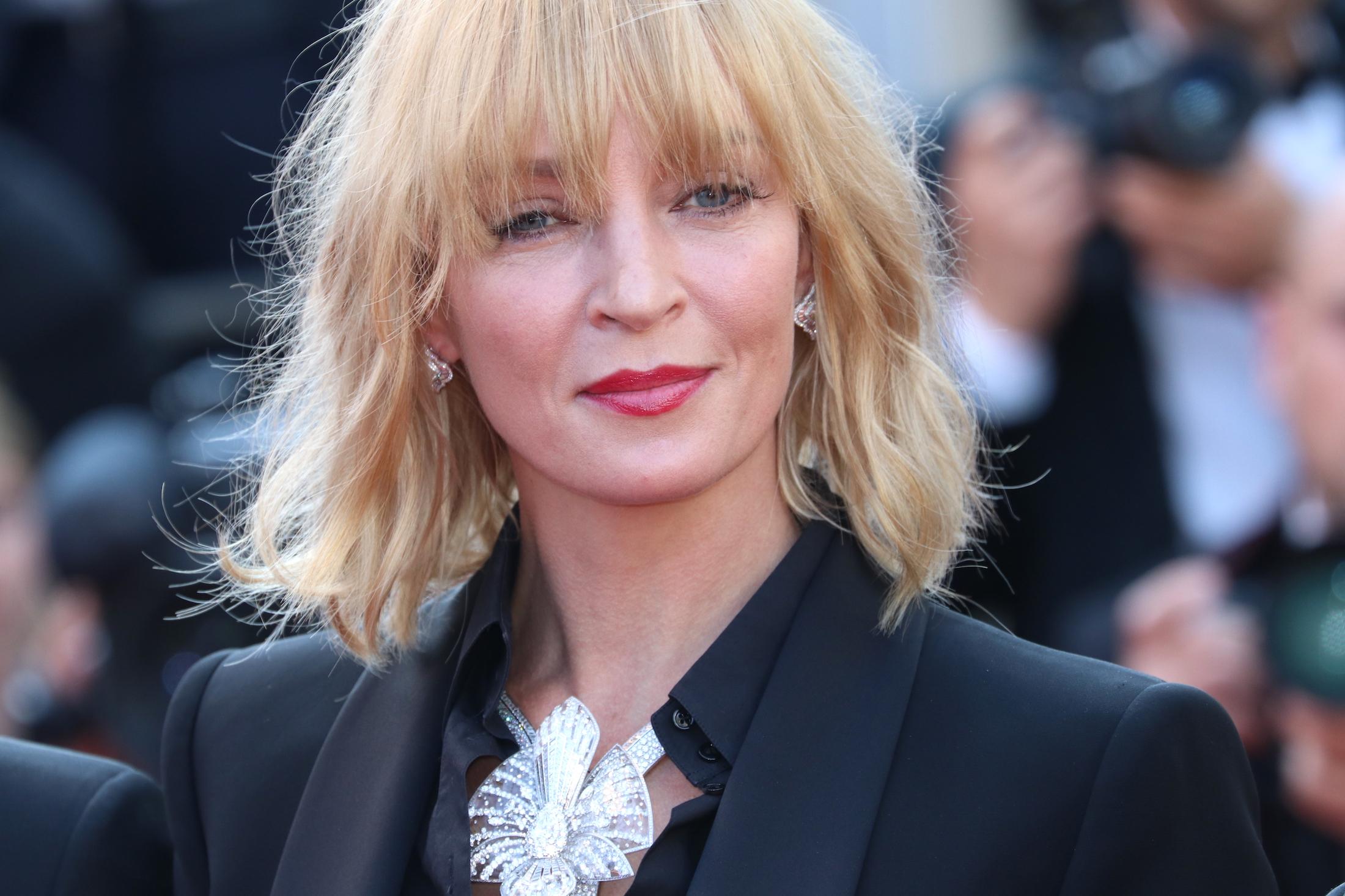 Cannes 2017: Uma Thurman sul red carpet di Based on a True Story