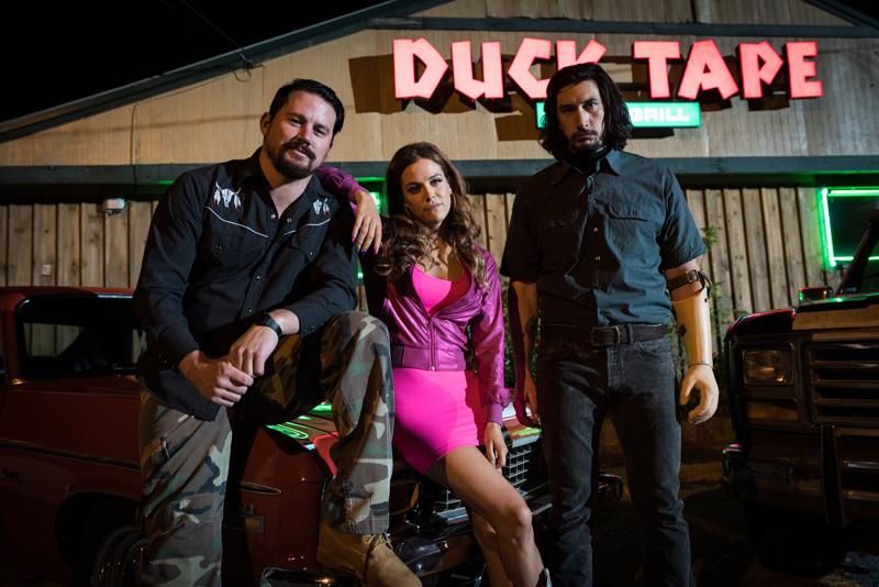 Logan Lucky: Channing Tatum, Adam Driver e Riley Keough in una foto del film