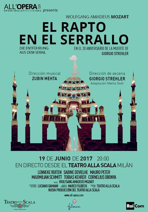 Locandina di Teatro alla Scala di Milano: Die Entführung Aus Dem Serail