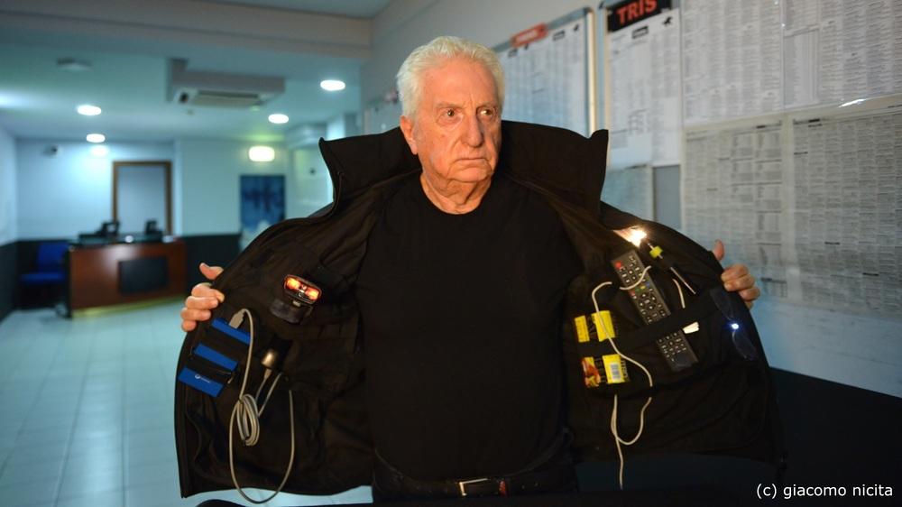 Il crimine non va in pensione: Gianfranco D'Angelo in una scena del film