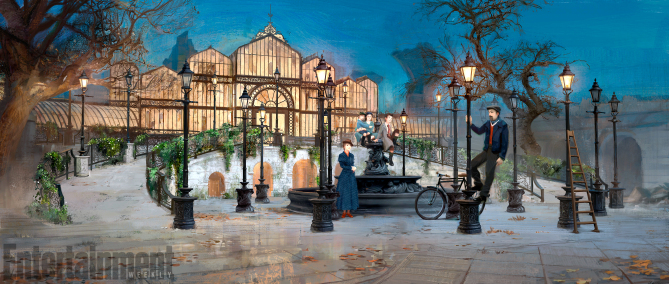 Mary Poppins Returns: un concept art del film