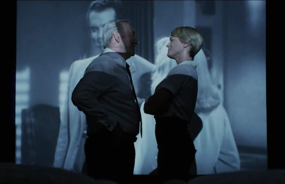 House of Cards 5: Kevin Spacey e Robin Wright in un momento della serie tv