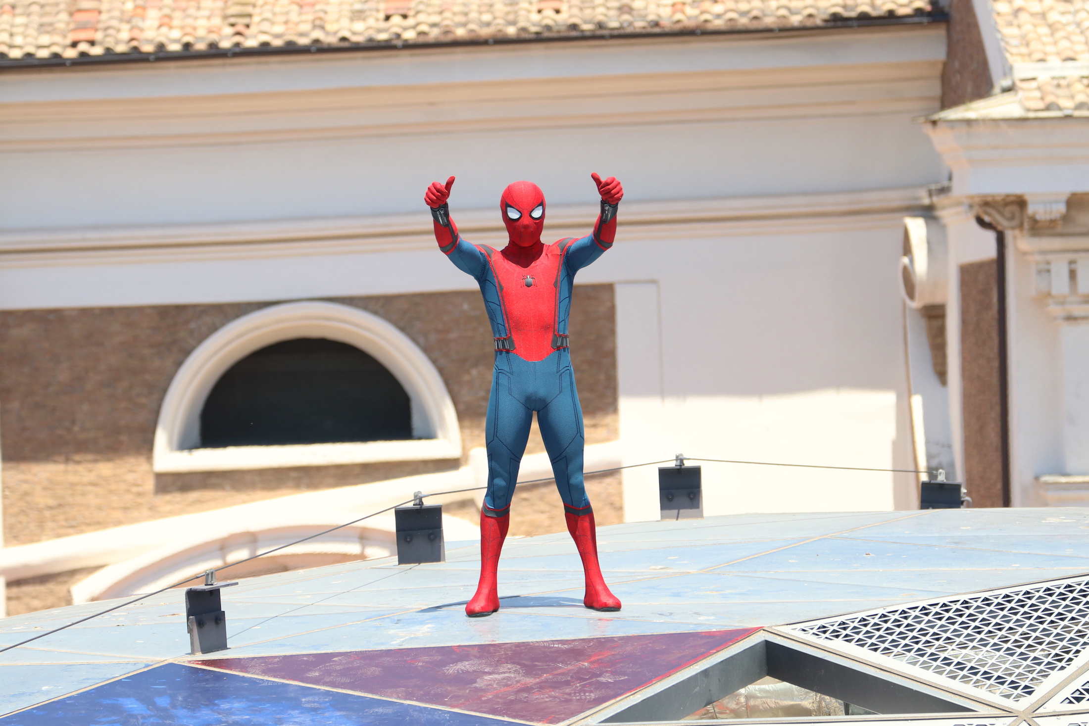 Spider-Man: Homecoming: stuntman al photocall
