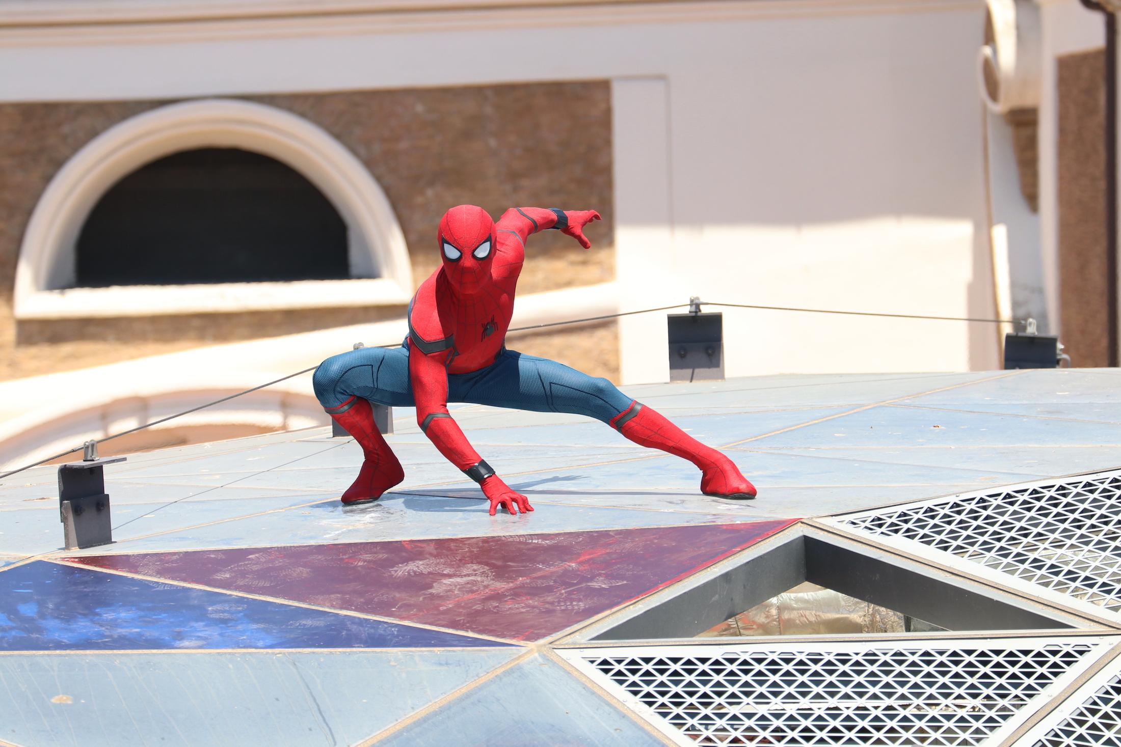Spider-Man: Homecoming: uno scatto dello stuntman al photocall