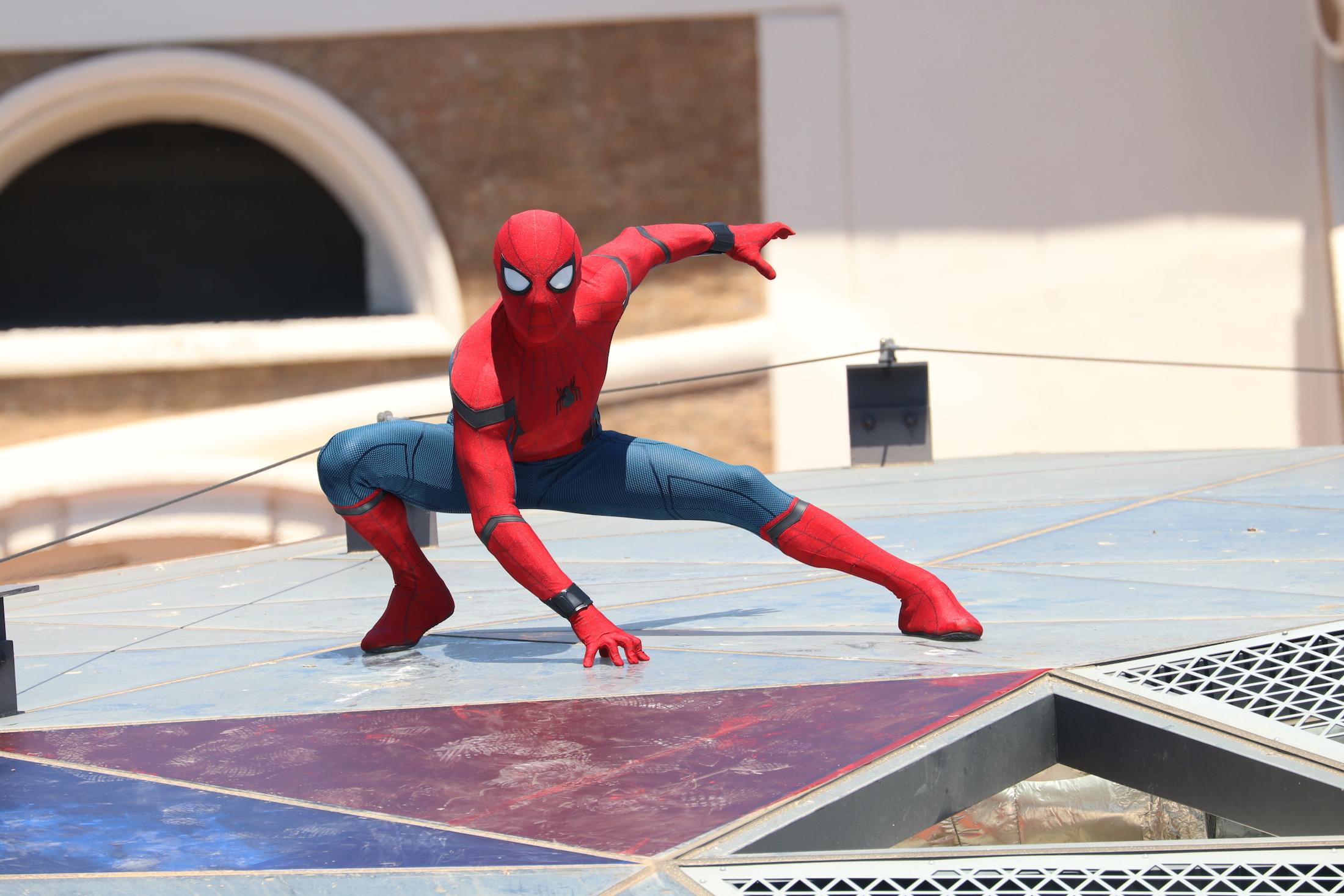 Spider-Man: Homecoming: l'acrobatico stuntman al photocall