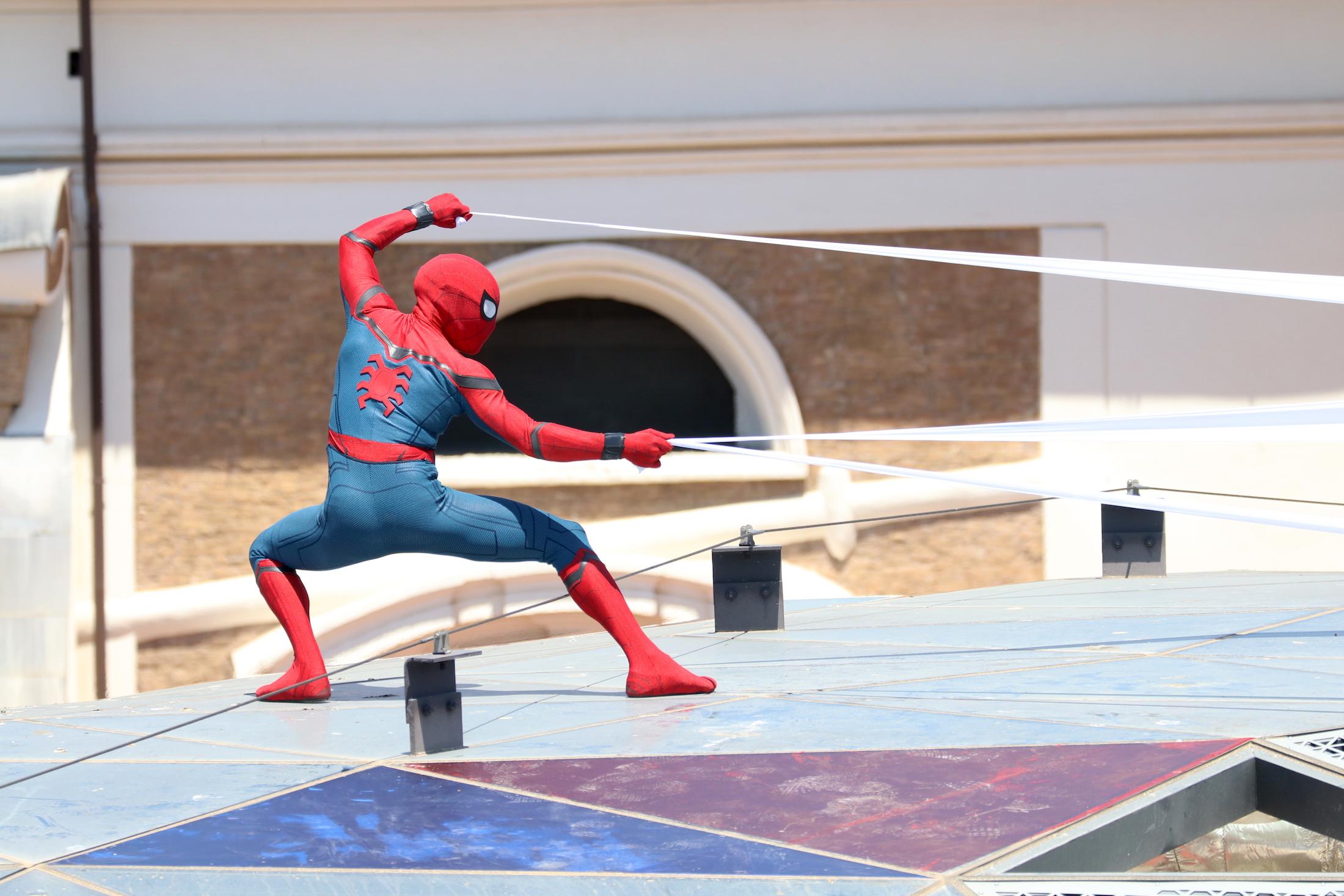 Spider-Man: Homecoming: l'uomo ragno sui tetti di Roma al photocall