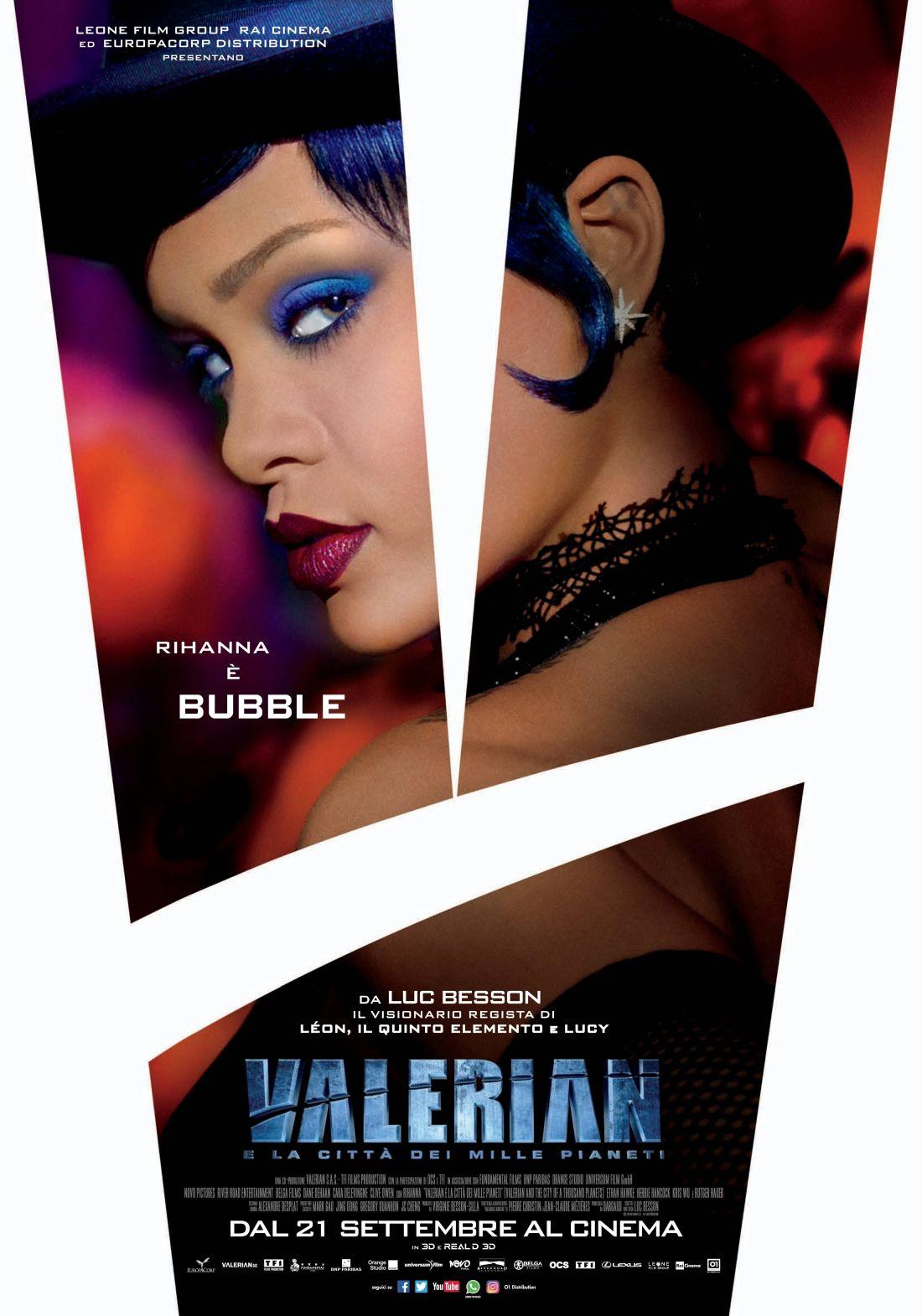 Valerian e la città dei mille pianeti: il character poster di Rihanna