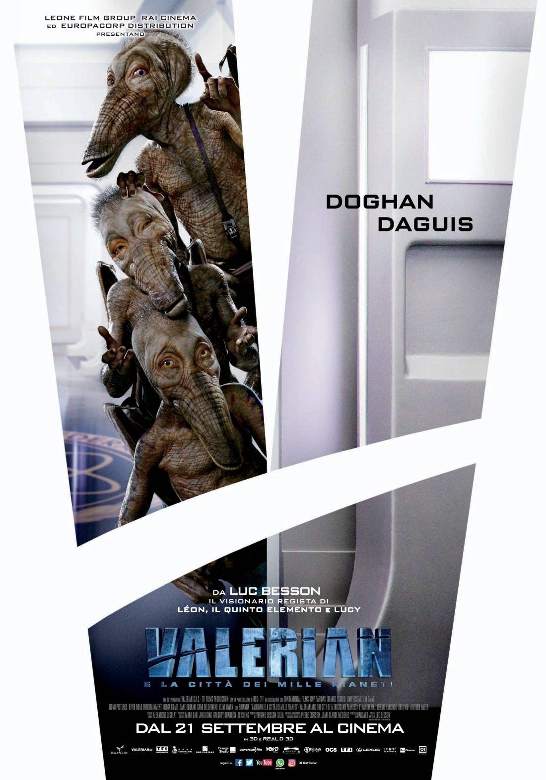 Valerian e la città dei mille pianeti: un character poster speciale del nuovo film di Luc Besson