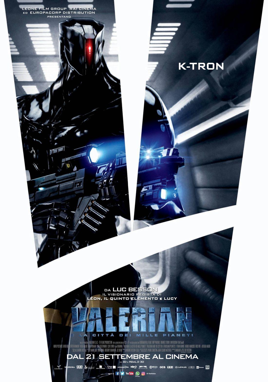 Valerian e la città dei mille pianeti: il character poster dedicato a K-Tron