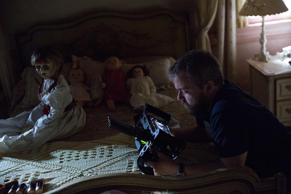 Annabelle 2: Creation, il regista David F. Sandberg sul set del film