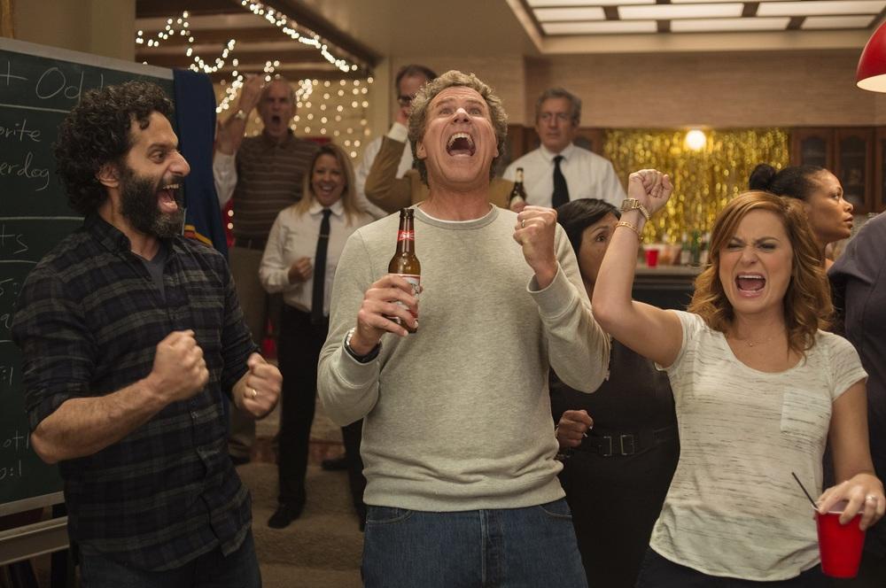 Casa casinò: Will Ferrell, Amy Poehler e Jason Mantzoukas in una scena del film