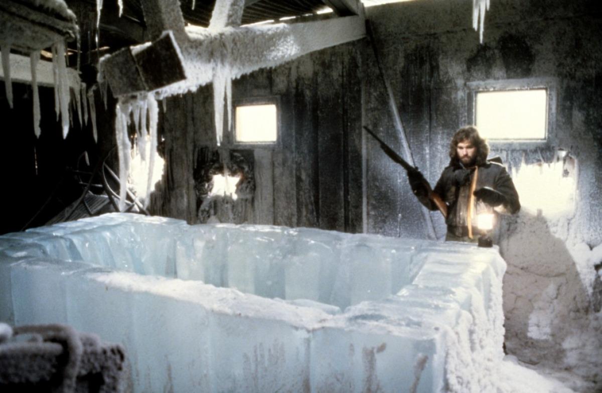 La Cosa: Kurt Russell in un momento del film