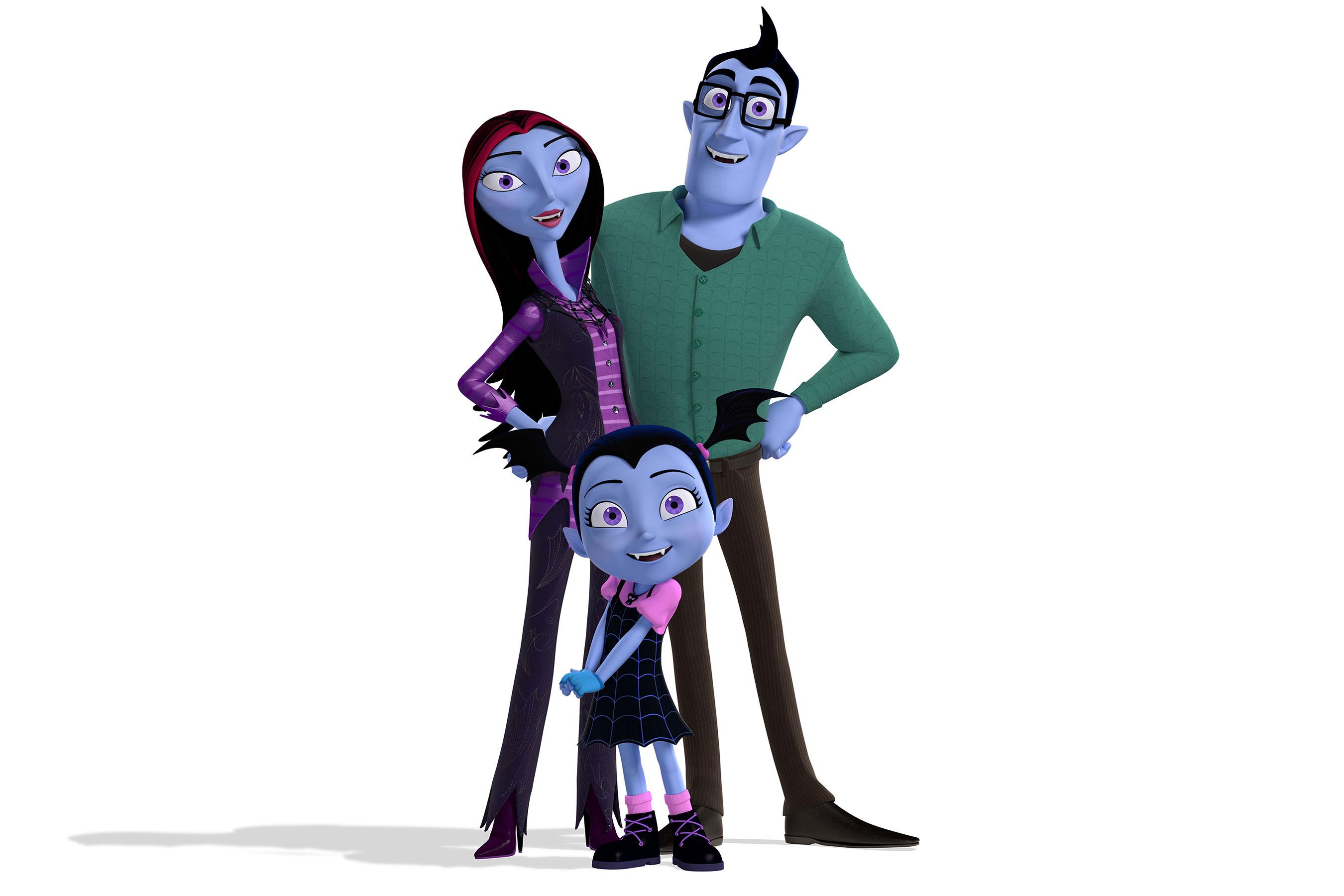 Vampirina: un'immagine dei protagonisti della serie animata