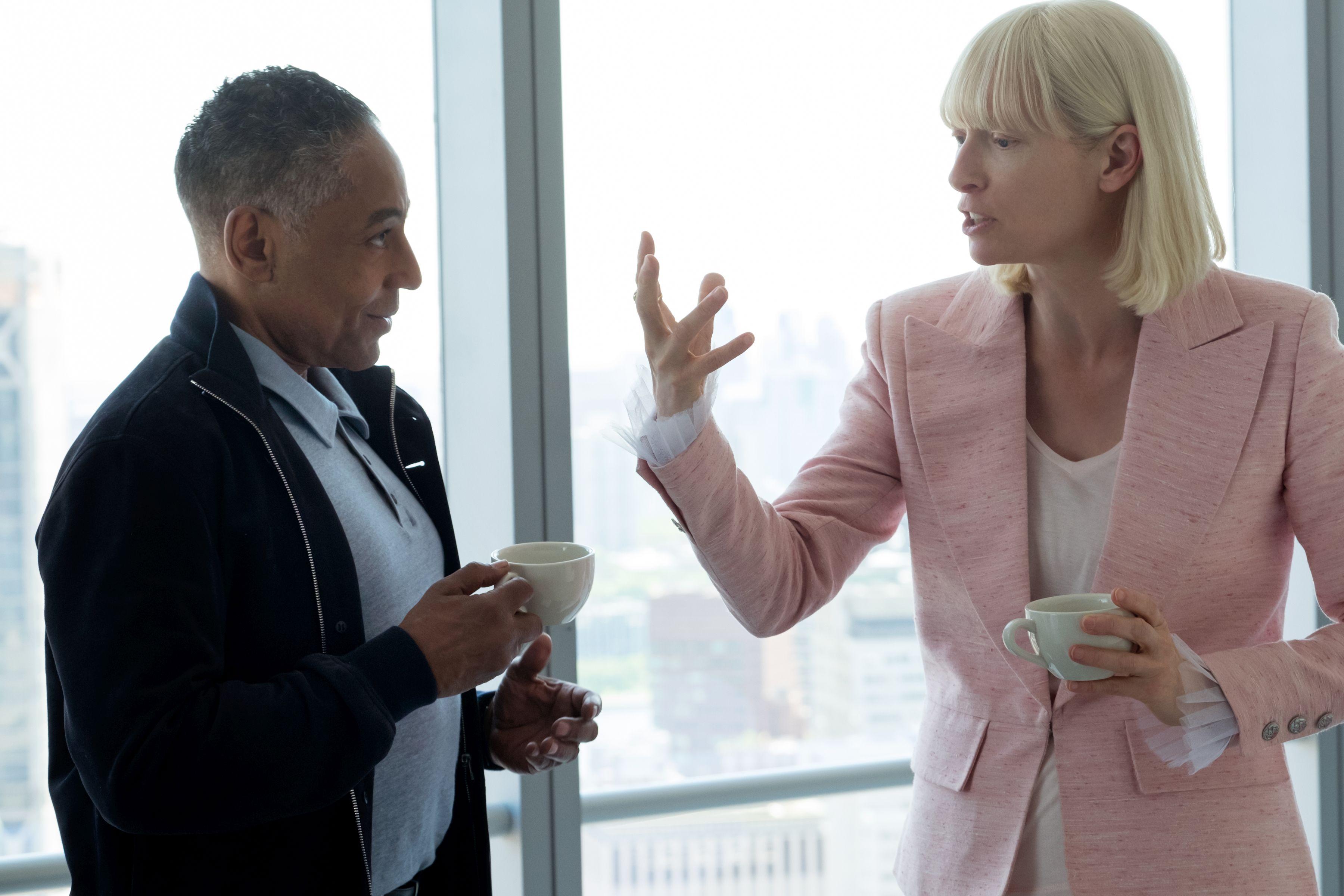 Okja: Giancarlo Esposito e Tilda Swinton sul set