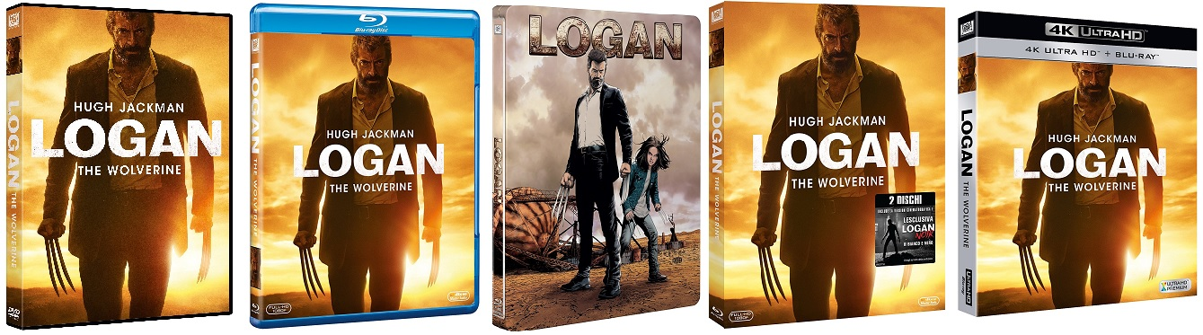 Le cover homevideo di Logan - The Wolverine