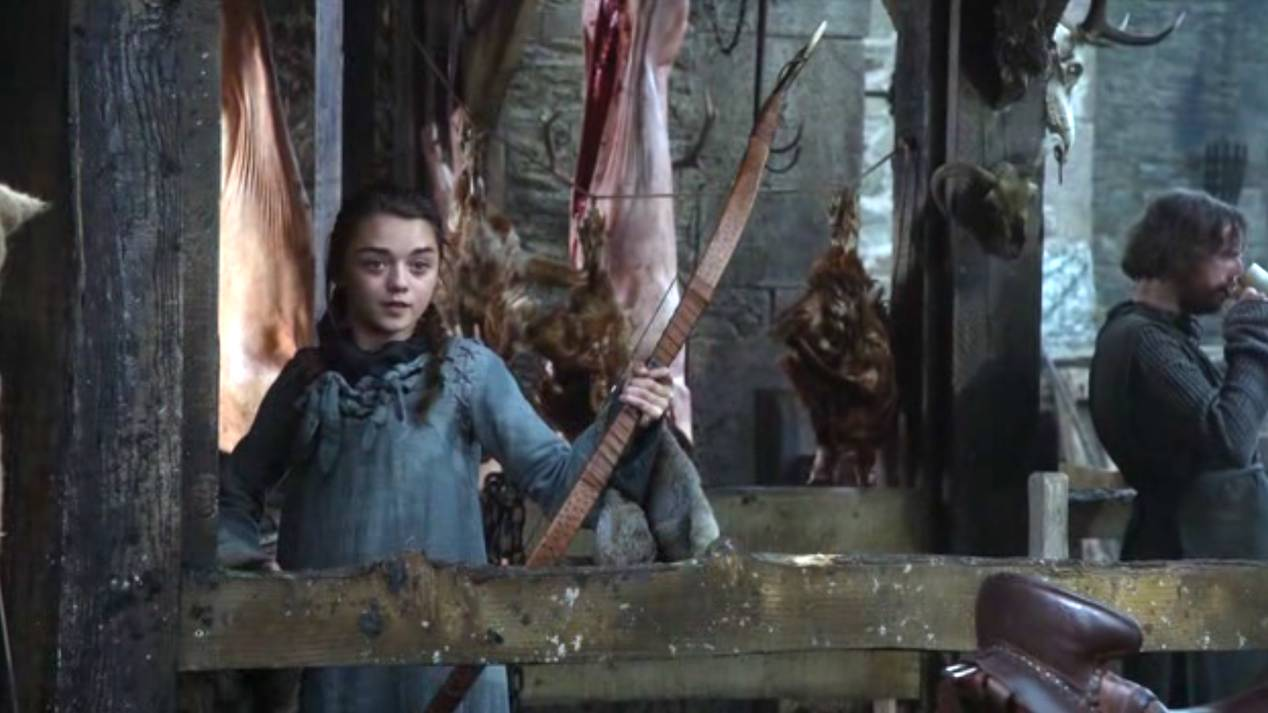 Il trono di spade: Maisie Williams nell'episodio pilota