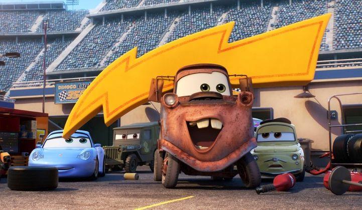 Cars 3: un momento del film d'animazione
