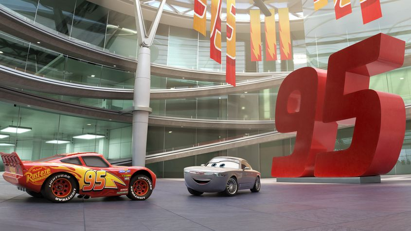 Cars 3: un momento del film animato