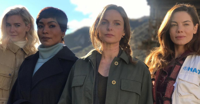 Mission: Impossible 6 - Vanessa Kirby, Angela Bassett, Rebecca Ferguson e Michelle Monaghan sul set
