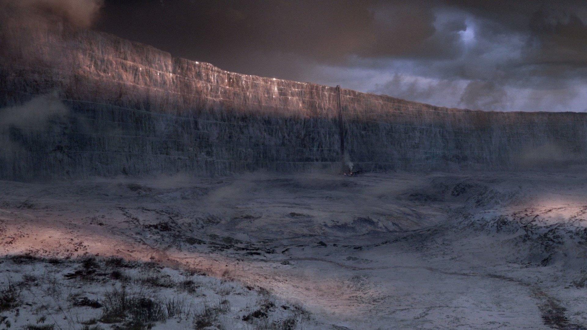 Il trono di spade: la Barriera vista da sud