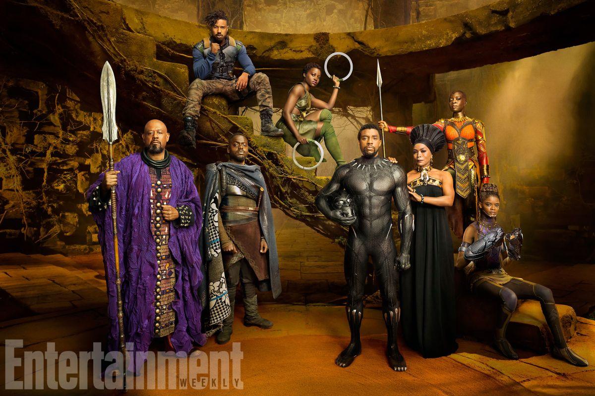 Black Panther: una foto promozionale del cast
