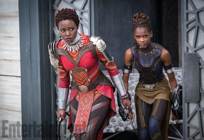 Black Panther: Lupita Nyong'O e Letitia Wright in una foto del film