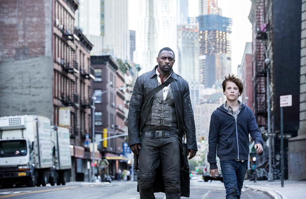 La Torre Nera: Idris Elba e Tom Taylor in un momento del film