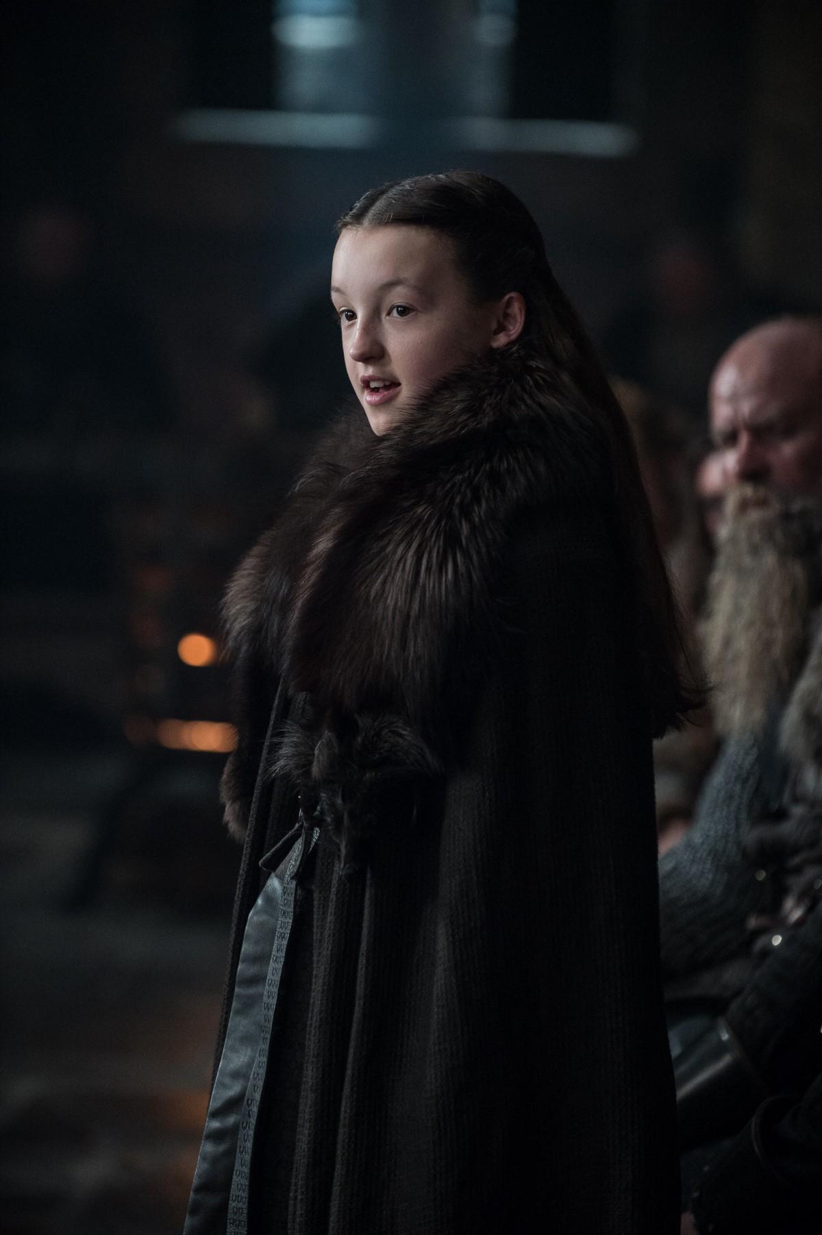 Il Trono di Spade: Bella Ramsey in una foto di Dragonstone