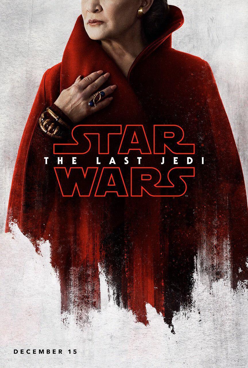 Star Wars: Gli Ultimi Jedi - poster di Carrie Fisher