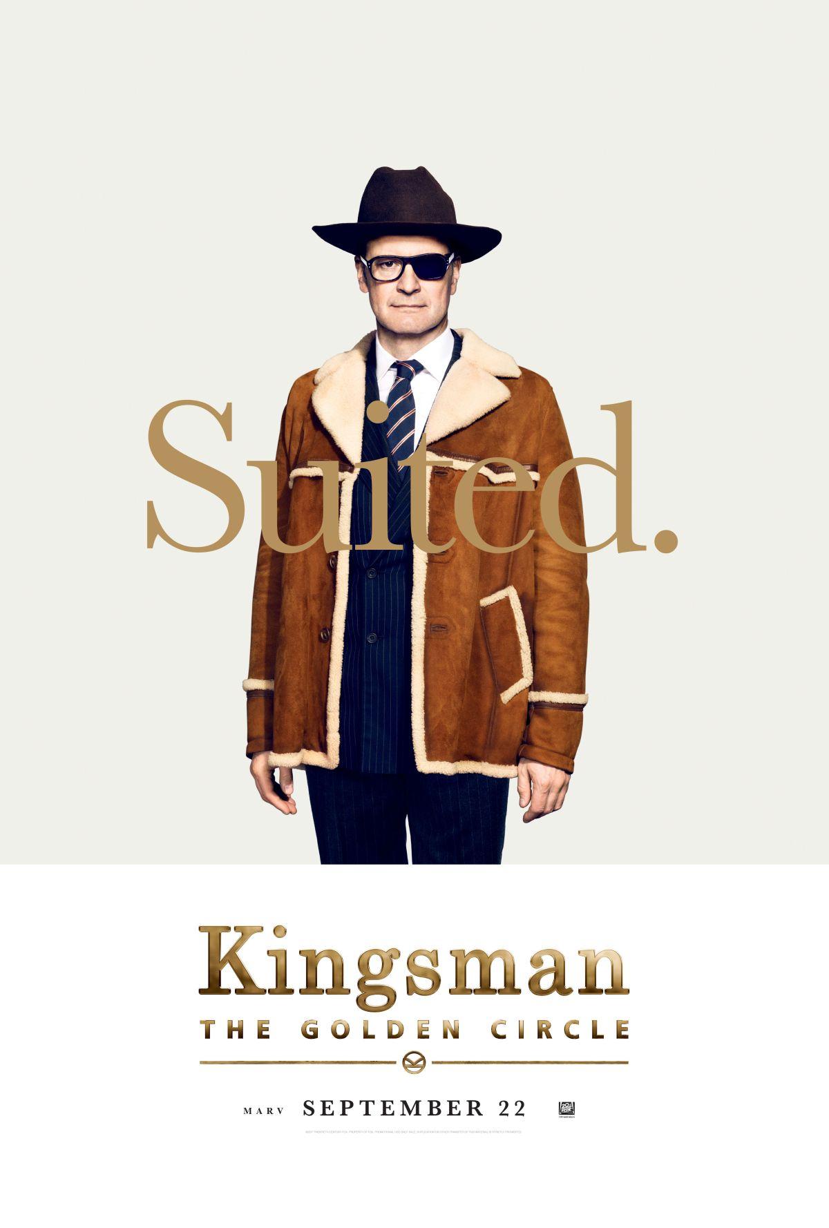 Kingsman: Il cerchio d'oro - Il character poster di Colin Firth