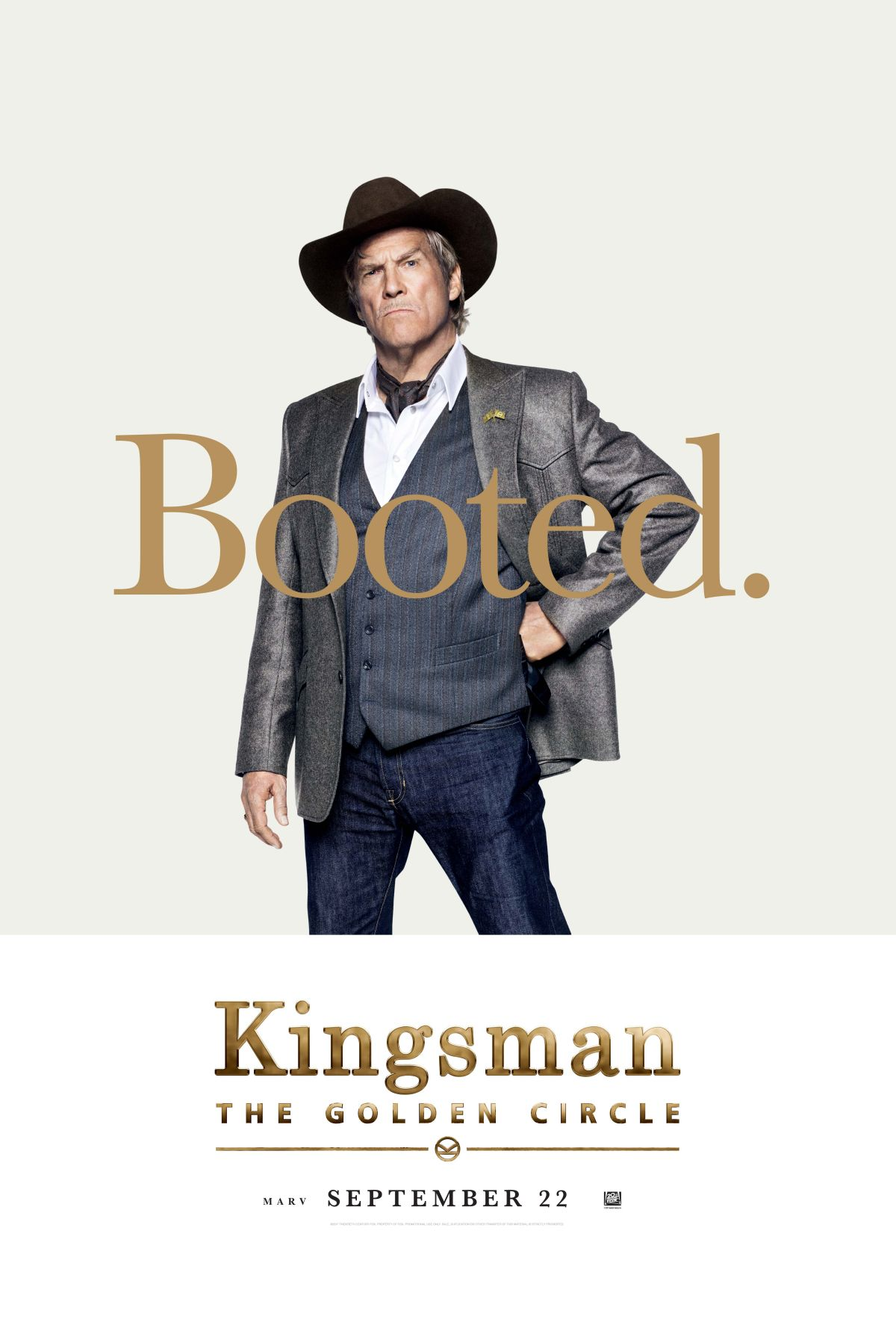 Kingsman: Il cerchio d'oro - Il character poster di Jeff Bridges