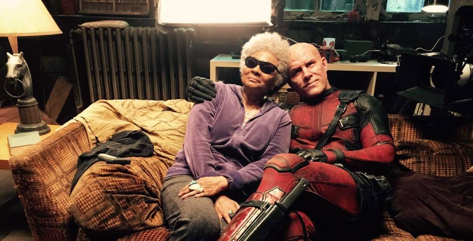 Deadpool: Wade Wilson e Blind Al sul set