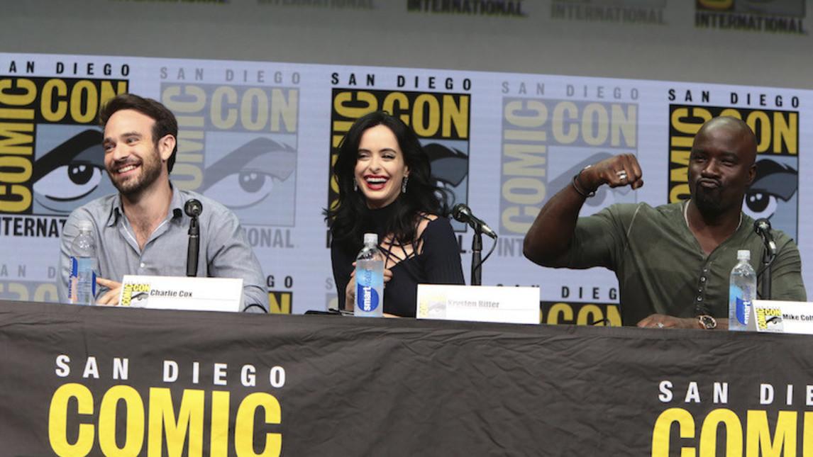 Charlie Cox, Kristen Ritter e Mike Colfer al ComicCon 2017