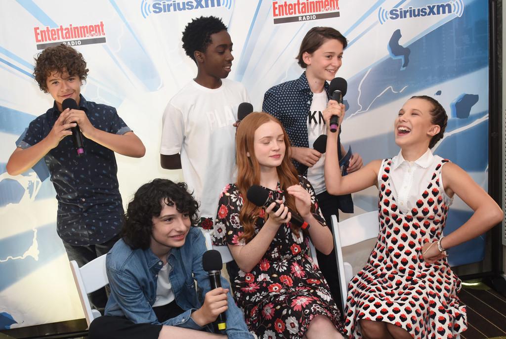 Gaten Matarazzo, Caleb McLaughlin, Noah Schnapp, Finn Wolfhard, Sadie Sink and Millie Bobby Brown al Comic-Con