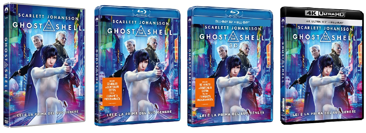 le cover homevideo di Ghost in the Shell