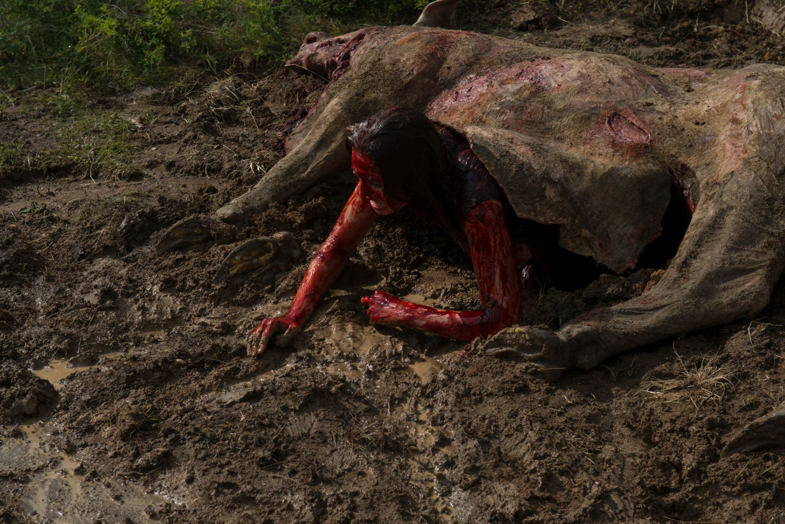 Leatherface: un momento del film