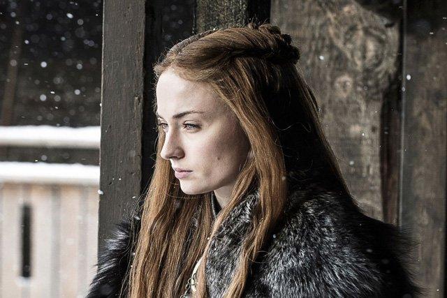 Il Trono di Spade: Sophie Turner nell'episodio Nata dalla tempesta