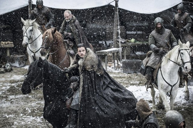 Il Trono di Spade: Kit Harington nell'episodio Nata dalla Tempesta