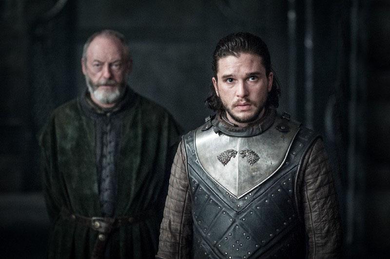 Il Trono di Spade: Davos e Jon Snow in The Queen's Justice