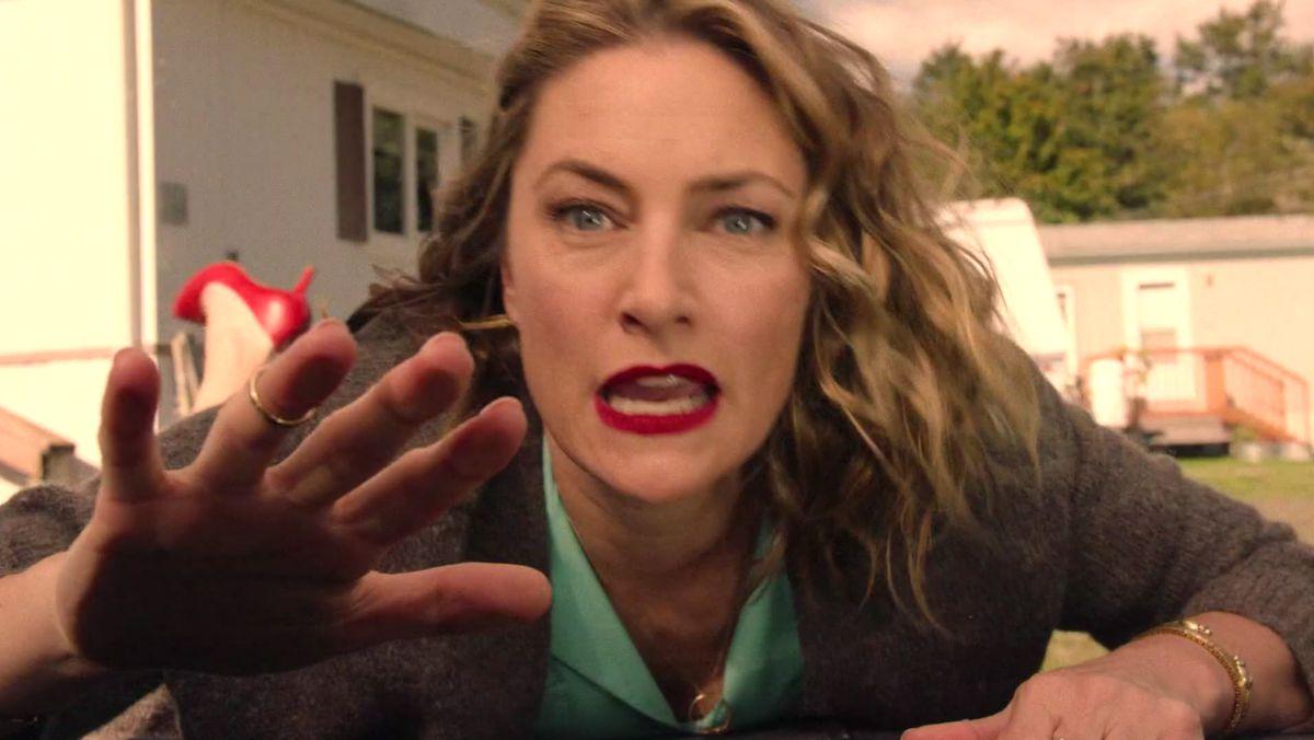 I segreti di Twin Peaks: Mädchen Amick  in una scena concitata