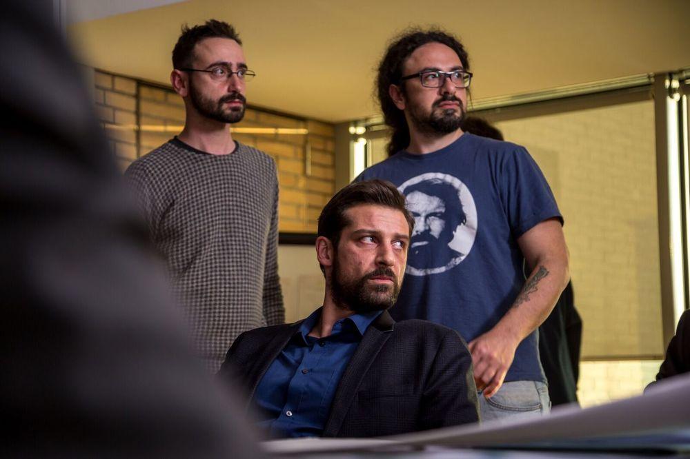 Il contagio: Daniele Coluccini, Matteo Botrugno e Maurizio Tesei sul set del film
