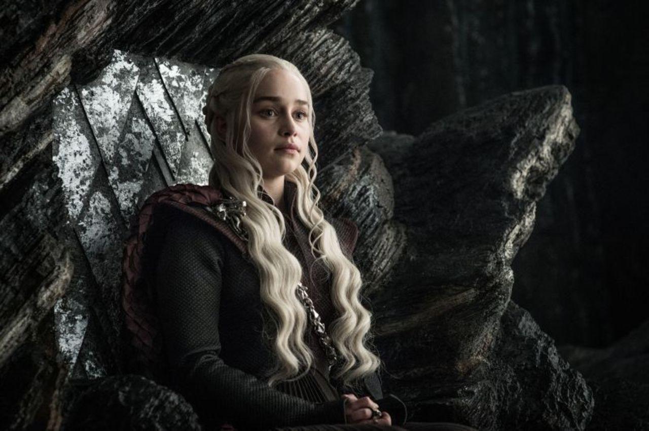 Il trono di spade: Emilia Clarke nell'episodio La giustizia della Regina