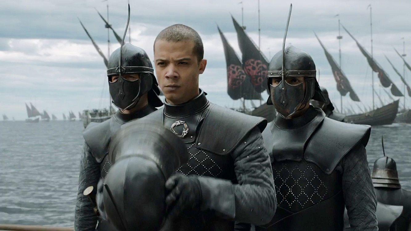 Il trono di spade: Jacob Anderson in una scena dell'episodio La giustizia della Regina