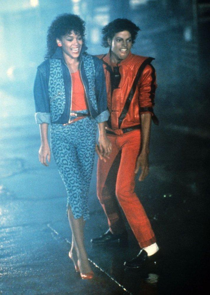 Thriller: Michael Jackson e Ola Ray in un'immagine del videoclip