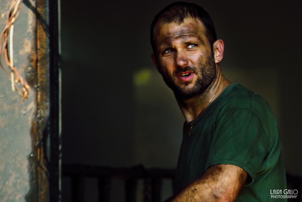 Veleno: Gennaro Di Colandrea in una scena del film