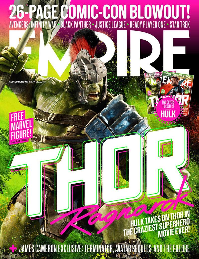 Thor: Ragnarok, la copertina di Empire dedicata a Hulk