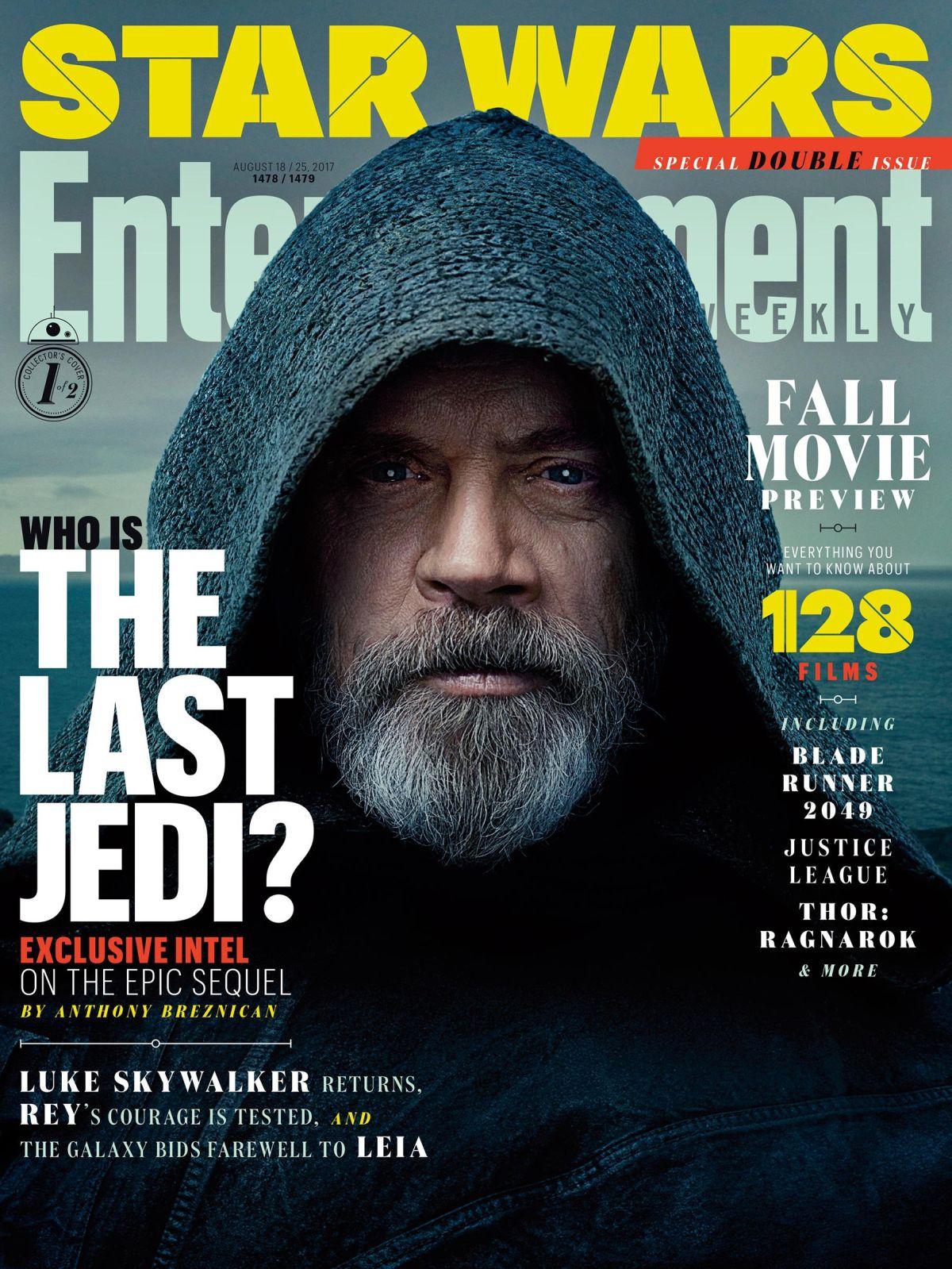 Star Wars: Gli ultimi Jedi, Mark Hamill sulla copertina di EW
